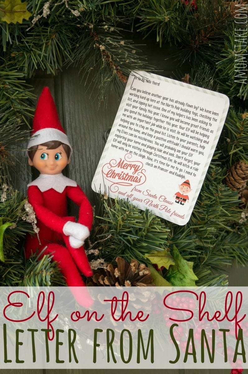 elf on the shelf letter from santa pdf