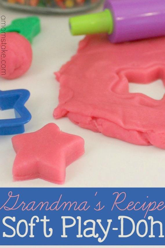 Super soft homemade play-doh recipe. This was grandma's classic recipe handed down and the best play-doh around! Makes for a fun afternoon activity with the kids, especially toddlers!