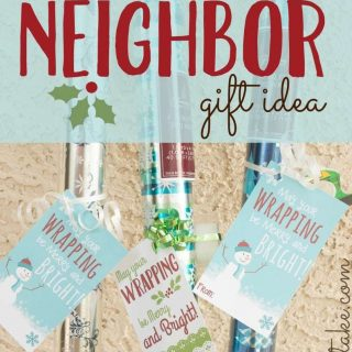 Wrapping Paper Neighbor Gift Printable
