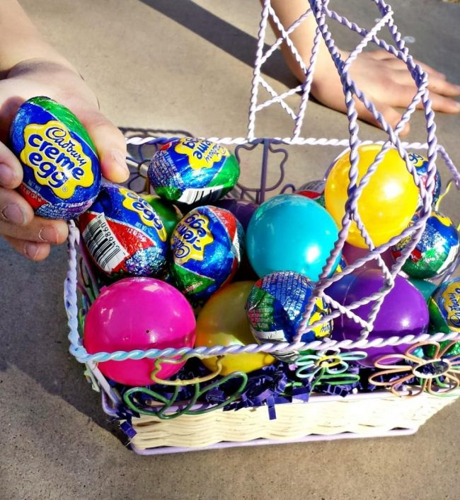 Add Cadbury Creme Eggs to any Easter egg hunt for added fun.