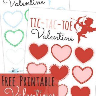 Tic Tac Toe Printable Valentines