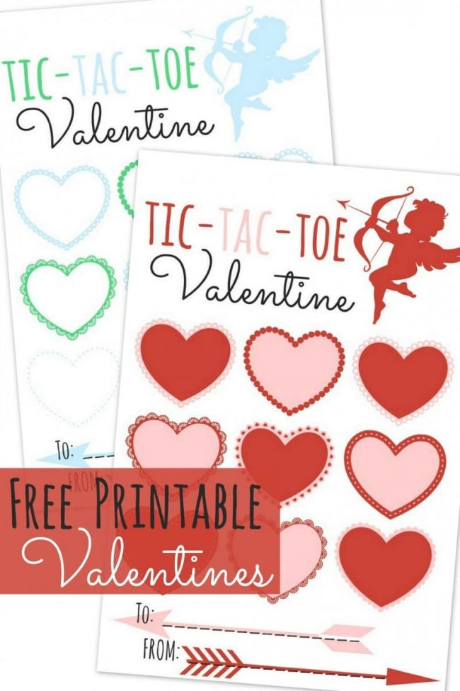 photograph about Tic Tac Toe Valentine Printable referred to as Tic Tac Toe Printable Valentines - A Mothers Get