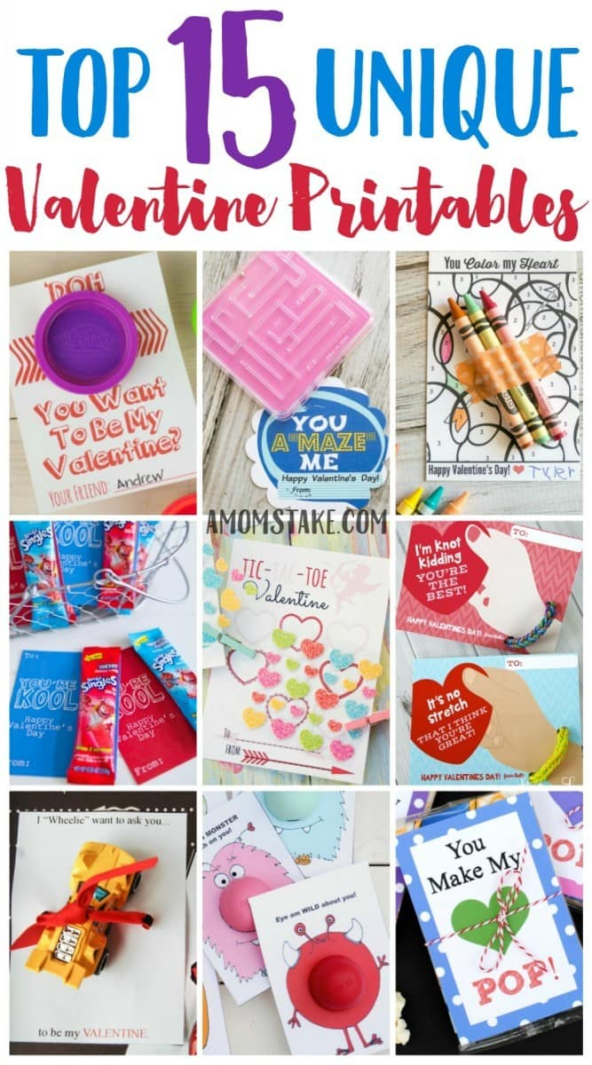 I loved this post for ideas for classroom Valentine's day cards for my preschool child and older kids too! These are the best, most unique, and totally free valentine printables! Off to print my valentines.