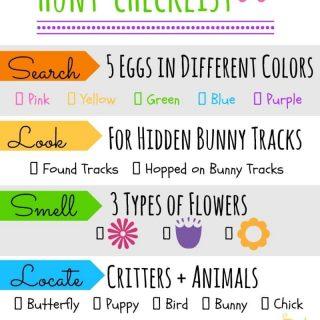 Printable Easter Egg Hunt Checklist