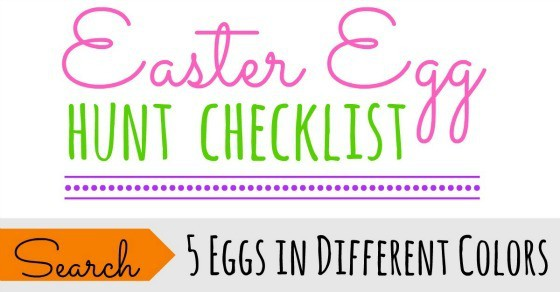 We're printing this awesome Easter egg hunt checklist to use with the kids this year! So fun to mix up the traditional holiday Easter hunt and make it unique and cheap and make the hunt last longer! Free printable!