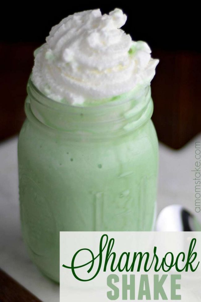 Mint Shamrock Shake great for a st patricks day treat!