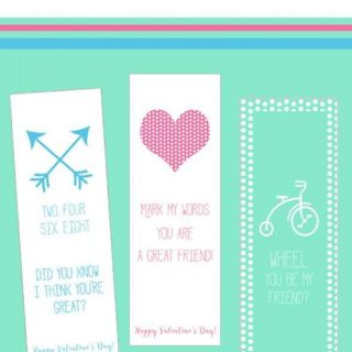 3 Printable Valentine's Day Bookmarks