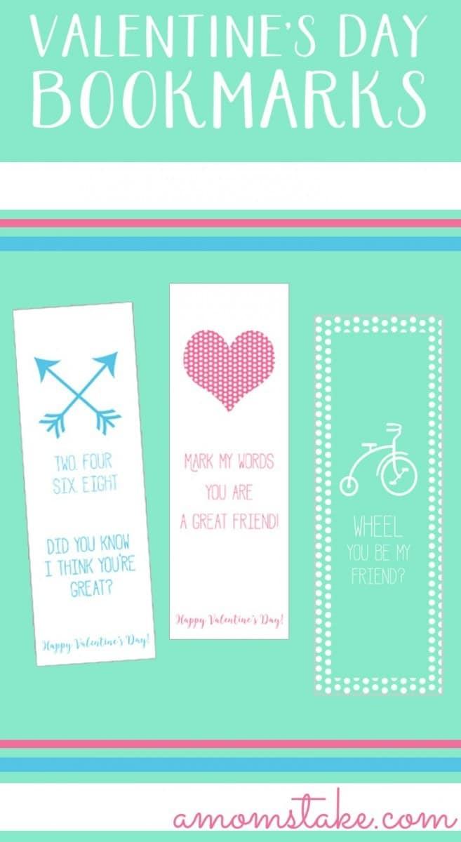 3 Printable Valentine\'s Day Bookmarks - A Mom\'s Take