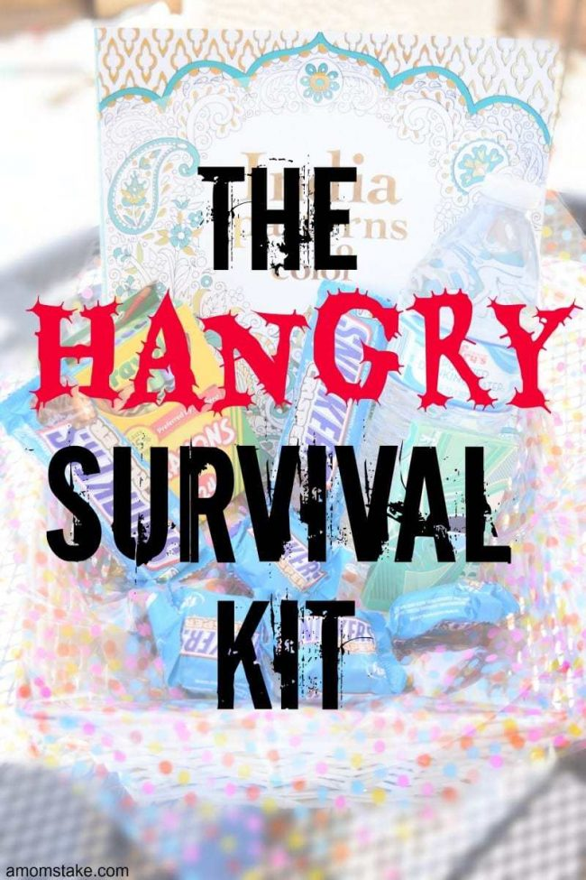 Keep the hunger at bay and everyone happy with the Hangry Survival Kit.