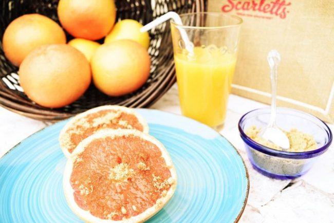Wonderful Sweet Scarlett's  Texas red grapefruit  Breakfast goodness.