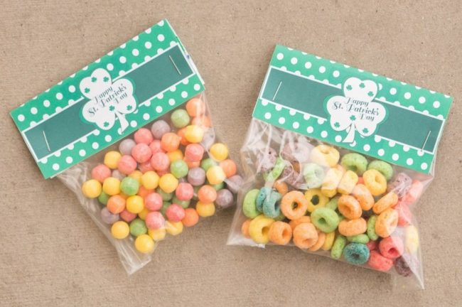 St Patricks Candy Bag Toppers05993