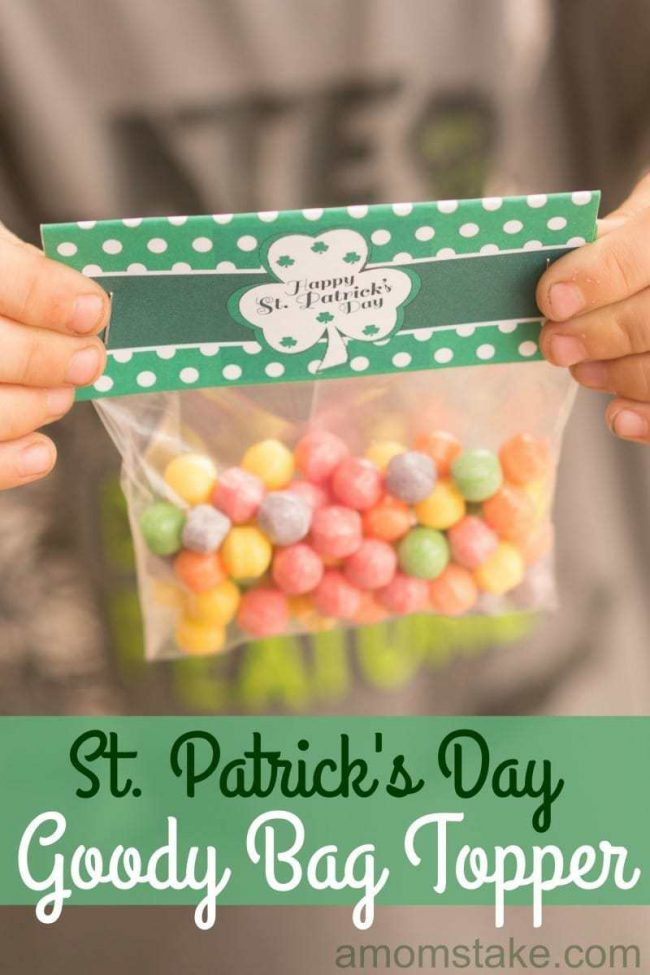 St Patricks Candy Bag Toppers05998