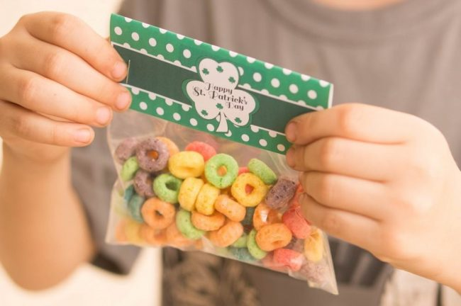 St Patricks Candy Bag Toppers06005
