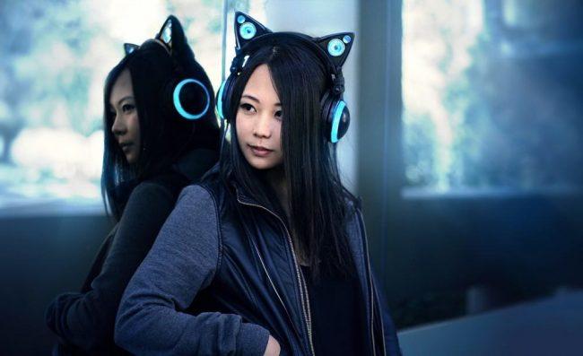 Blue Cat Ear Headphones