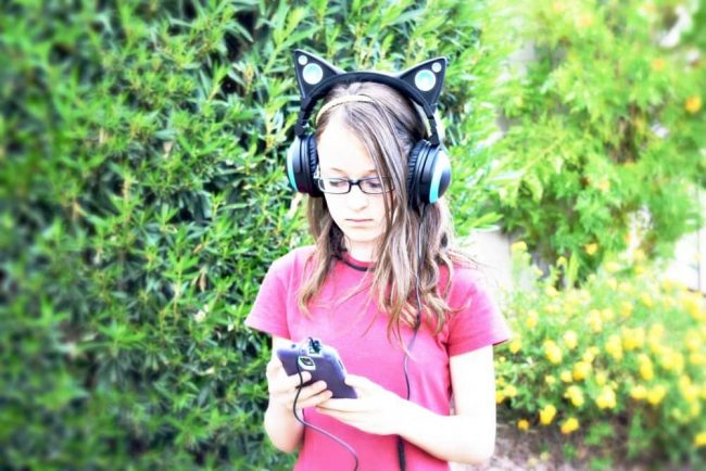 Cat Ear Headphones are perfect for teens