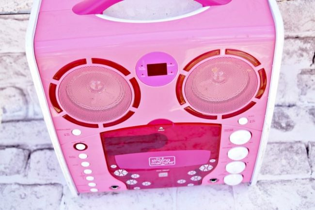 Karaoke machine for a fun teen party