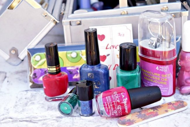 Nail polish for manicures teen party ideas.