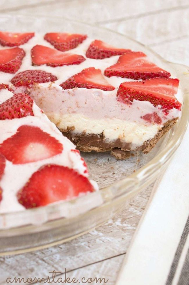 Neapolitan Ice Cream Pie side
