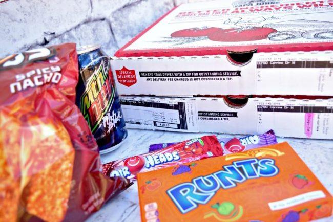 Teen party junk food fun