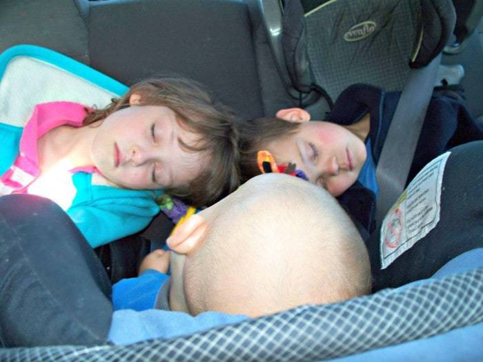 Traveling makes kids sleepy give them a break to run