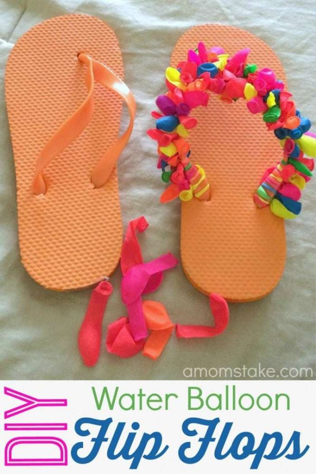 diy water balloon flip flops