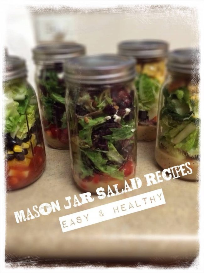 So easy! I love Salads in a mason jar as they are quick and perfect for on the go – and they help me eat healthier all summer! 3 yummy salad recipes included making lunch a snap!