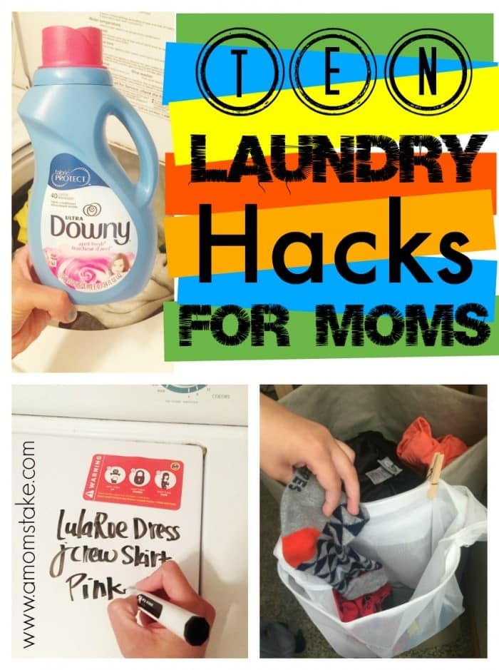 You've GOT to try these hacks, they've made laundry duty so much easier! Simple tricks and solutions like pinning an extra sock bag to your laundry basket and tossing in ice cubes into the dryer (such an awesome and simple laundry hack!!)