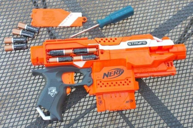 nerf duracell