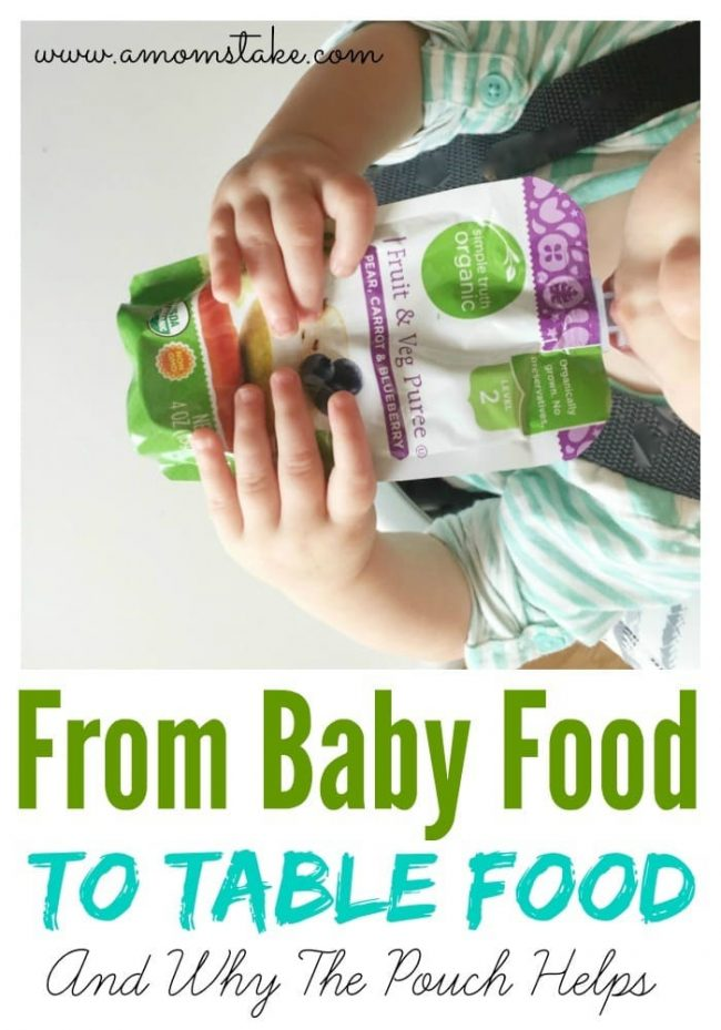 Making the switch from baby food to table food can be tricky and sometimes frustrating. Come see how we use food pouches to make the transition easier.