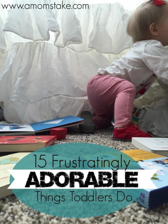 You know those moments, when your toddler is just so darn cute, but absolutely frustrating at the same time. This list makes me laugh out loud - I can completely relate!