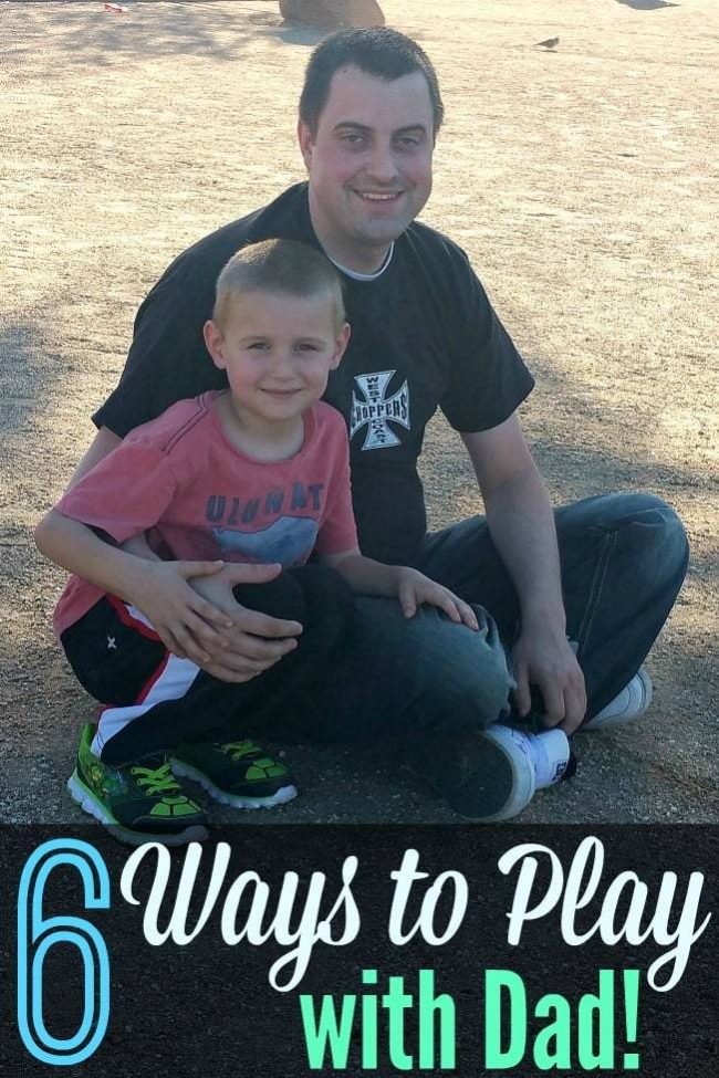 Dads totally know how to rock playtime with their kids. I'm loving the new twist on playtime with each idea included here - so much fun for summer bored busters with the kids -- and the whole family!