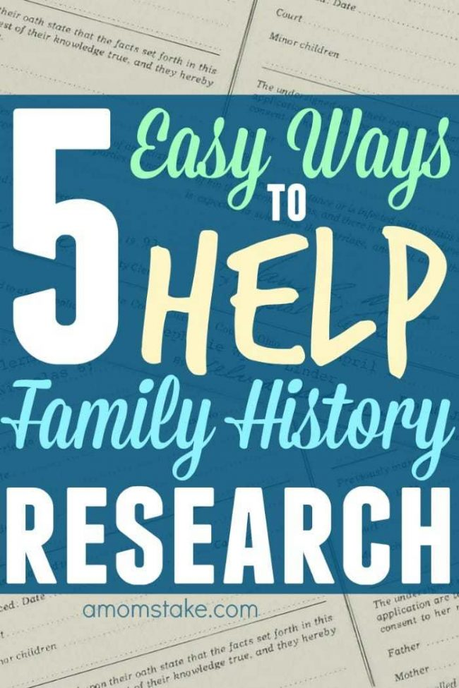 5 easy ways to help family history research