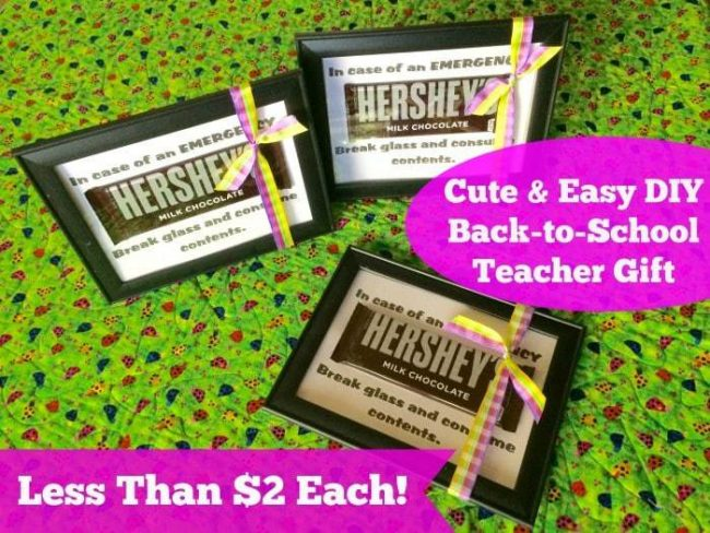 Such an easy DIY Teacher Gift especially to give after that first week of school when you know the teacher is wiped out! Less than $2 a project and can make in 5 minutes!