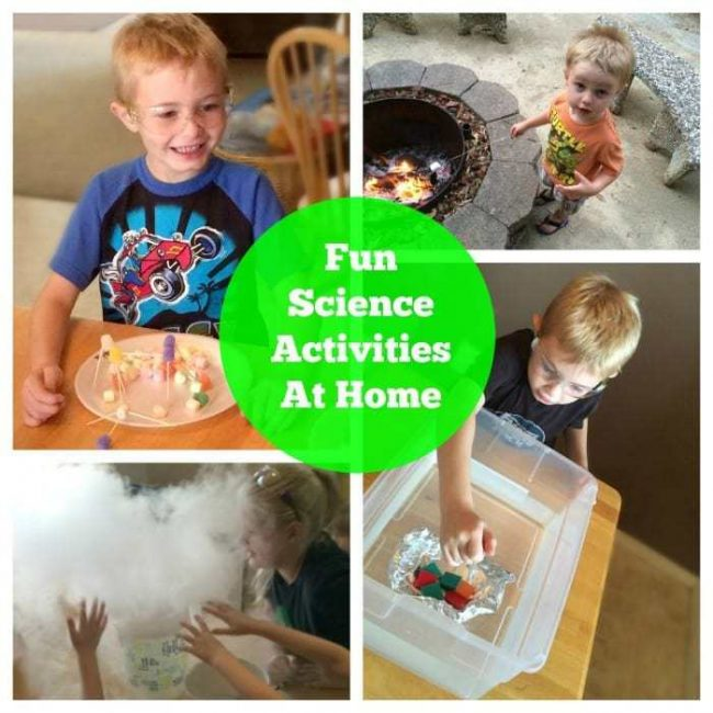 Great science activities anyone can do at home! Unique activities for all ages with things you already have at your house!