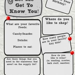 Get to Know the Teacher Printable Info Sheet