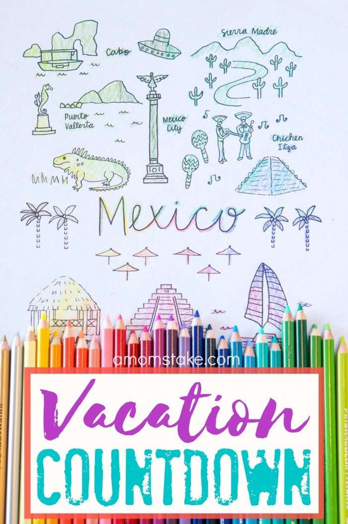 Getting ready for a big vacation calls for this fun color-in countdown that will get you excited and help you check off your travel to-do list! Color in a section each day or week as you gear up to your next exciting adventure! Great for mom or the kids to visually see how much time is left until your trip.