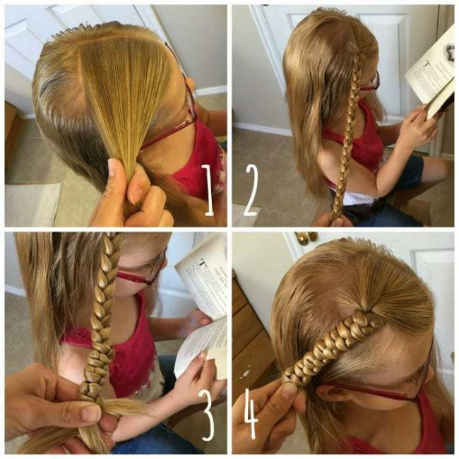 Quick and easy snake braid hair tutorial. Perfect for girls and women to change up that ponytail!