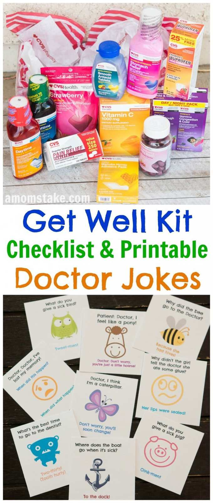 A well stocked medicine cabinet will have you prepared and ready for whatever comes your way through fall and cold and flu season. This list covers all the essentials to keep on hand. Plus, an adorable bonus set of kids doctor jokes to cheer up the family when a bug does hit.