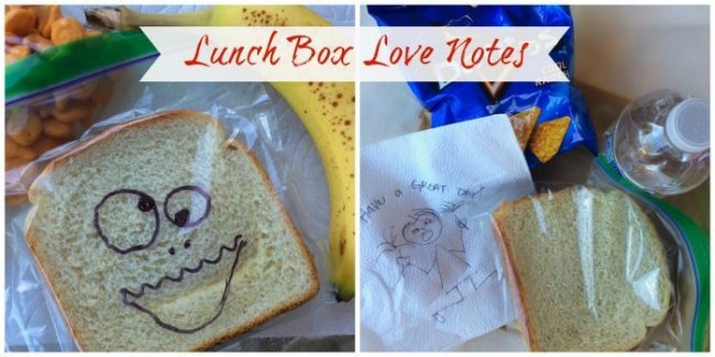 Great ways to stay connected to your kids even while they are at school! Creative ideas to let your kids know you are thinking of them. #Ad