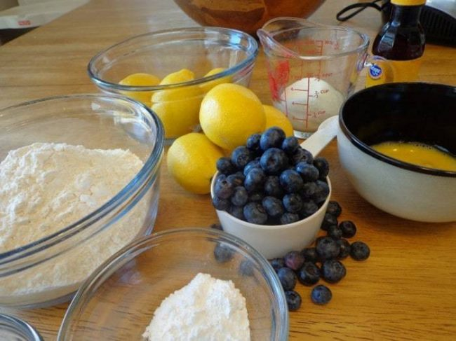 blueberry scones ingredients