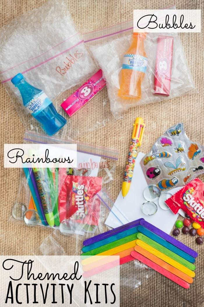 Road Trip Boredom Busters - Themed Activity Kids Quiet Activities. Make your own kits to keep the family entertained on your next family vacation! #travel #vacation #roadtrip #boredombusters