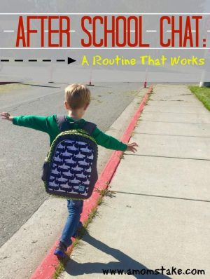 After School Chat: Routine That Works + Giveaway #SandWin