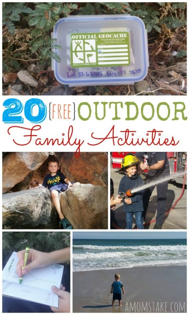 There are so many fun, and free, outdoor fun you can have together as a family! You're going to love this list of family and kids activities that will create that bond by getting outside together.