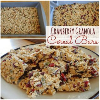 healthy cranberry granola bar, cranberry granola bars, homemade cranberry granola bars