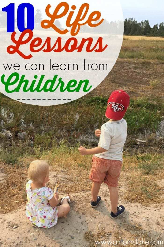 There are so many things we can learn from our kids. We're sharing 10 life lessons we're learning from our children. Parenting can be hard, but there is so much we gain as a mom or dad and caring for our babies.