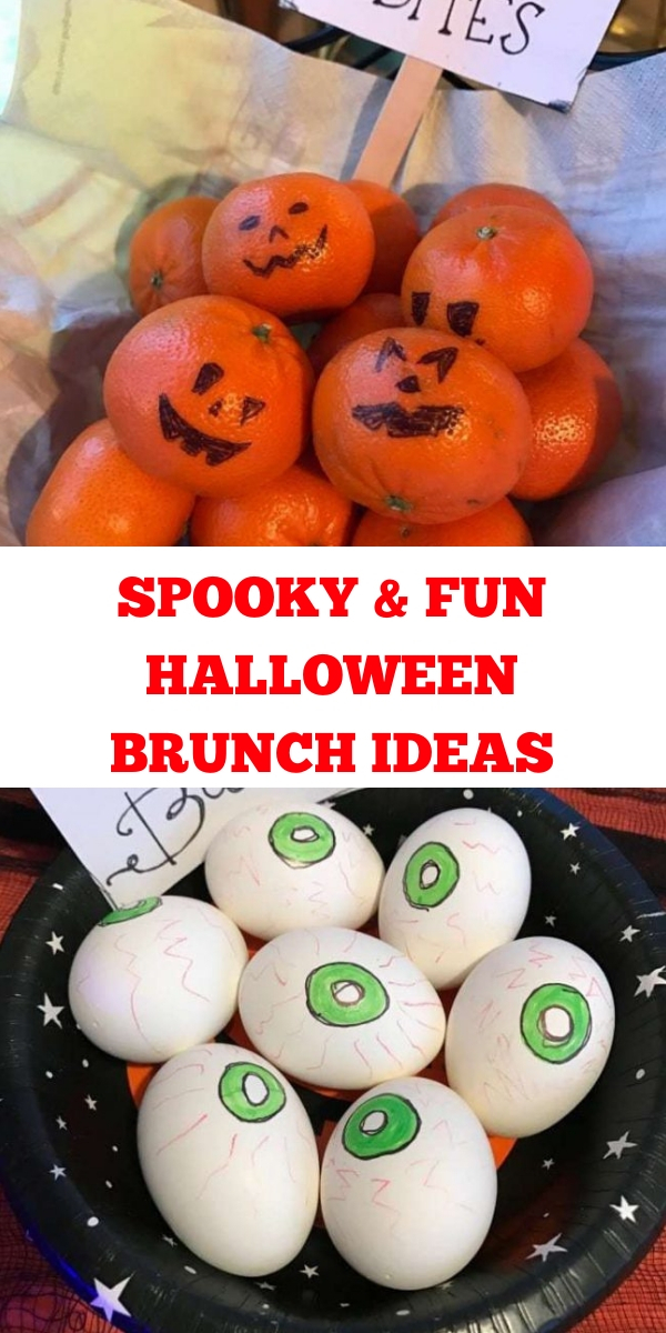 """Halloween brunch"", halloween themed brunch ideas, halloween brunch food ideas, halloween brunch recipes, halloween brunch menu ideas"