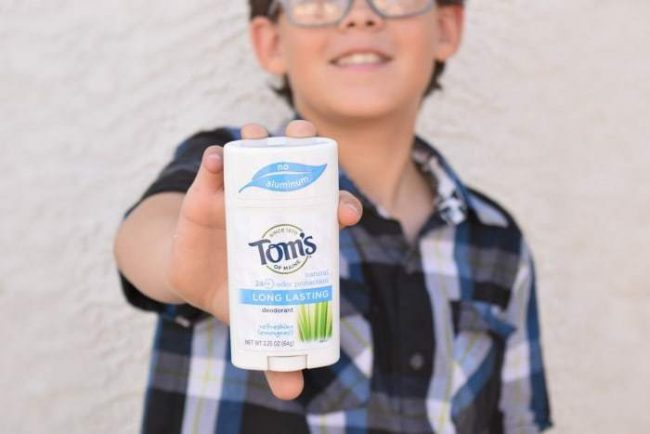 Tom's of Main. Natural deodorant is safe for teens.