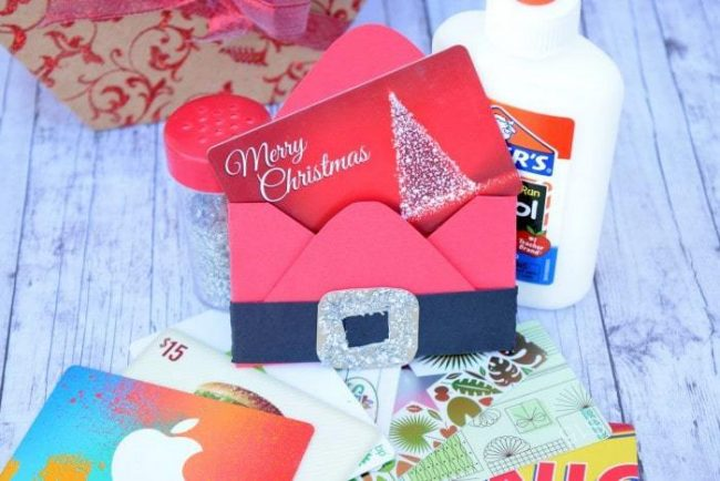 Make a gift card holder. Cute ways to gift a gift card