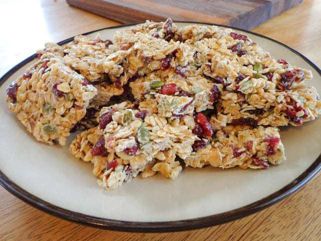 Cranberry Granola Cereal Bars