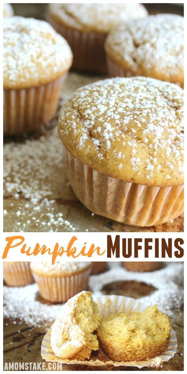 Simple, flavorful, perfectly easy pumpkin muffins are just what Fall needs to get started!
